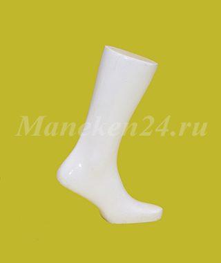 Нога мужского манекена белая 1
