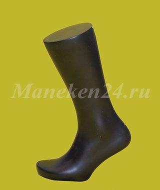 Нога мужского манекена. Для носков. Черная